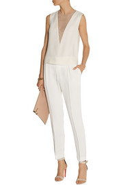 Tessa matte-silk straight-leg pants