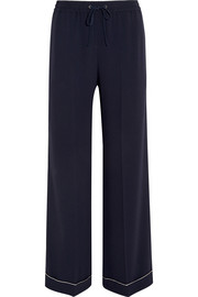 Luna stretch-crepe wide-leg pants