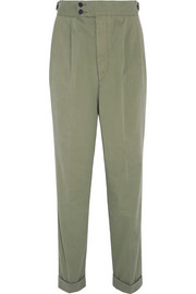 Dean stretch-cotton twill tapered pants