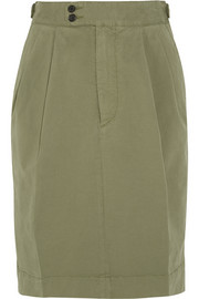 Dean stretch-cotton twill skirt