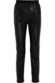 Tessa leather tapered pants