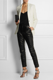 Joseph Tessa leather tapered pants