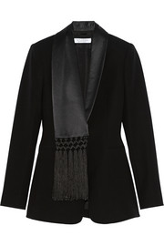 Suffolk fringed crepe blazer