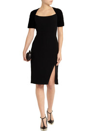 Altuzarra Angelina velvet-trimmed crepe dress