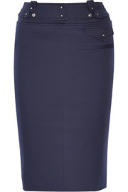 Moonraker stretch-twill pencil skirt