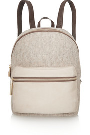 Cynnie wool, suede and leather backpack