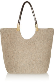 Cynnie wool and leather tote