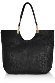 Cynnie textured-leather tote