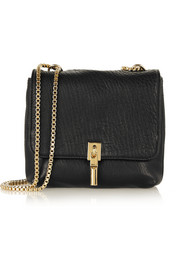 Elizabeth and James Cynnie Mini textured-leather shoulder bag