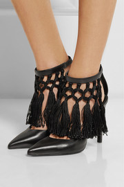 Altuzarra Triton fringed leather pumps