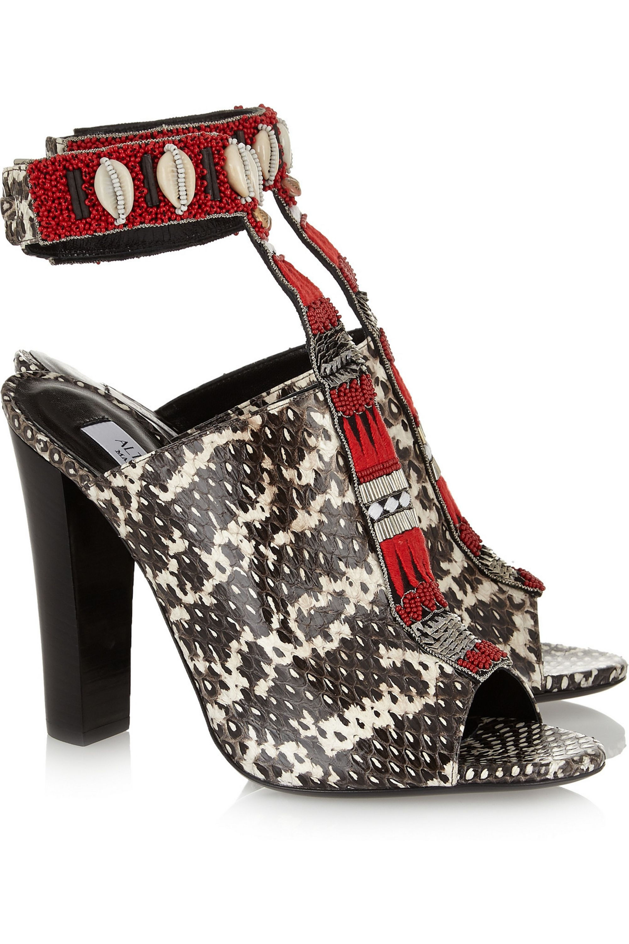 Altuzarra Zephyr embellished watersnake sandals