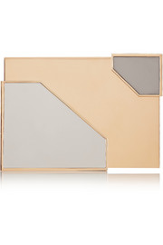 Broken Space tri-tone box clutch