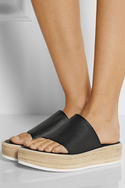 Tibi Mina leather slides