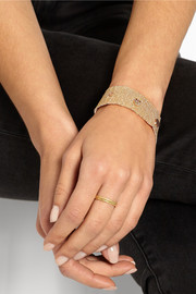 Carolina Bucci Woven 18-karat gold diamond bracelet