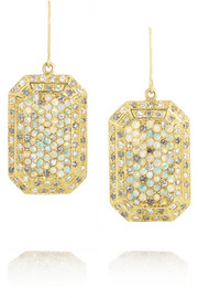 Carolina Bucci 18-karat gold, diamond and opal earrings