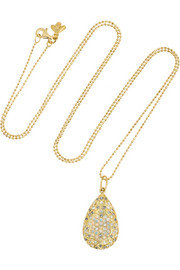 18-karat gold, diamond and opal necklace
