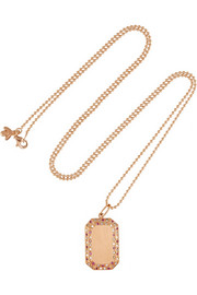 18-karat rose gold, diamond and sapphire necklace