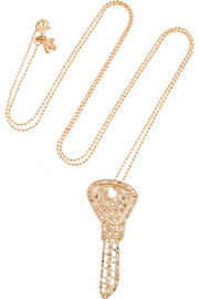 Carolina Bucci 18-karat rose gold diamond necklace