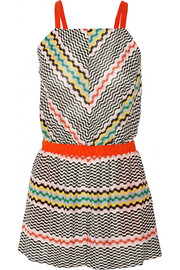 Missoni Crochet-knit playsuit