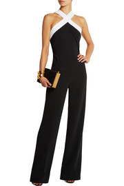 Roland Mouret Shotwick two-tone stretch-crepe jumpsuit