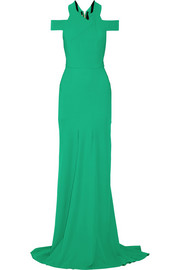 Barkby stretch-crepe gown