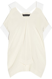 Leo cutout silk top