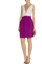 Roland Mouret Kava pleated wool-crepe skirt