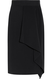 Eaton draped crepe pencil skirt