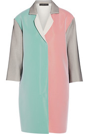 Paddington color-block crepe coat