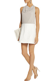 Roland Mouret Billingham crepe and stretch-cotton mini dress