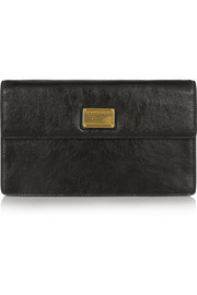 Nifty Gifty Jemma metallic leather clutch