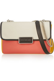 Rebel color-block leather shoulder bag