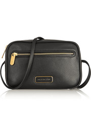 Sally textured-leather shoulder bag