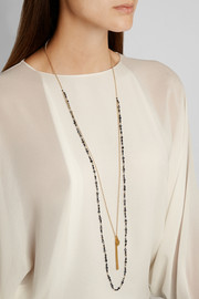 Chan Luu Gold-plated crystal necklace
