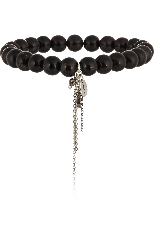 Chan Luu Horn and diamond charm bracelet