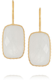 Gold-plated moonstone earrings