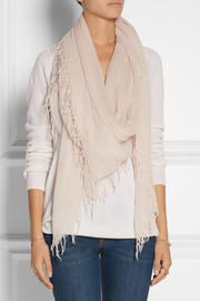 Cashmere and silk-blend scarf