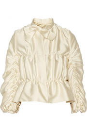 Ruched satin jacket