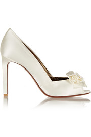 Lanvin Bow-embellished satin pumps