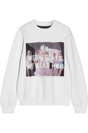 Finds + Untitled&Co On Wednesdays We Wear Pink cotton-blend sweatshirt