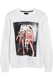 Finds + Untitled&Co As If printed cotton-blend sweatshirt