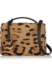 Mark Cross Grace Box small leopard-print calf hair shoulder bag