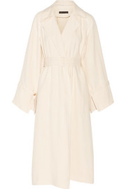 Lana oversized shantung trench coat