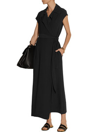 The Row Danate crepe wrap maxi dress
