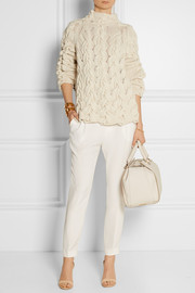 The Row Leander cable-knit cashmere and silk-blend sweater