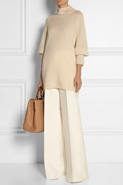 Mandel oversized cashmere and silk-blend turtleneck sweater