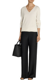 Maven crepe wide-leg pants