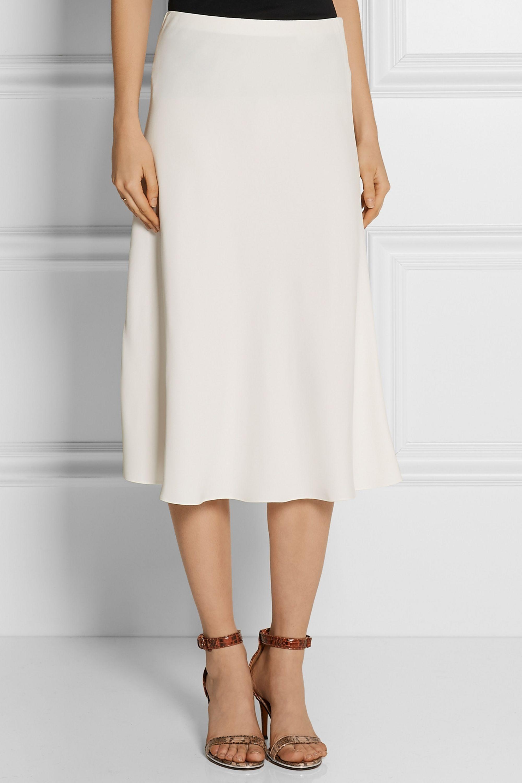 The Row Medela stretch-cady midi skirt