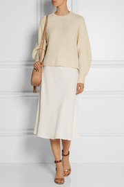 The Row Medela stretch-cady midi skirt