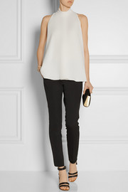 The Row Ropla stretch-crepe top